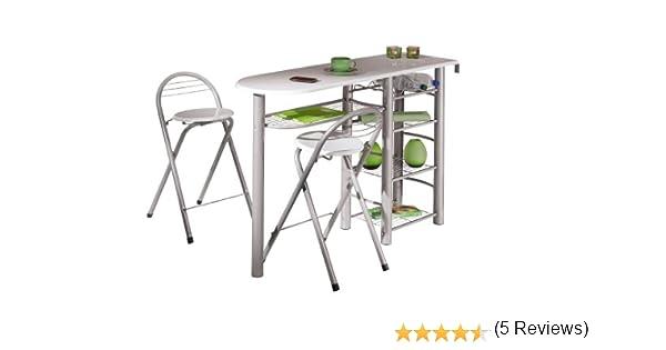 Links 50901190 tavolo bar da cucina incl. 2 sgabelli design