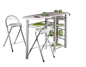 links 50901190 k chenbar wei k chentisch k chentresen tresen tisch k che st hle bistrotisch. Black Bedroom Furniture Sets. Home Design Ideas