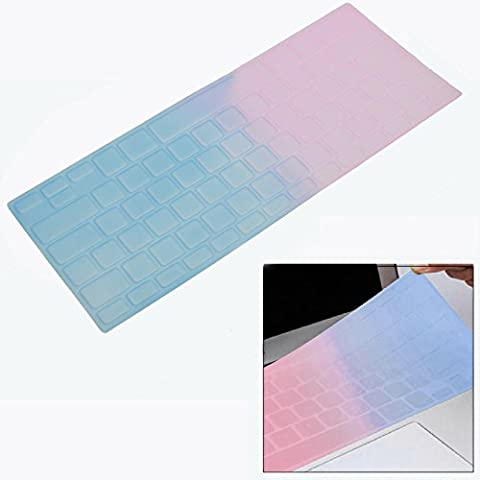 Único Color teclado Funda Piel de silicona para MacBook Pro 13 15 pulgadas con o sin pantalla Retina iMac MacBook Air 13 en