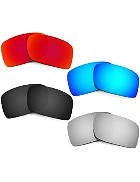 Hkuco Plus Mens Replacement Lenses For Oakley Gascan Red/Blue/Black/Titanium Sunglasses