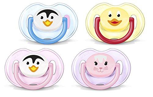 Philips Avent SCF182/23 Succhietti Animaletto - con Tettarelle ortodontiche, senza BPA (0-6m) - 2 pezzi Colori assortiti