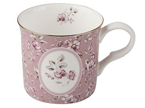 creatie Tops Katie Alice Ditsy Floral Shabby Chic Tasse Fine Bone China Palace, keramik, rose, 8 x 12.2 x 8.8000000000000007 cm (Polka Katie Dot)