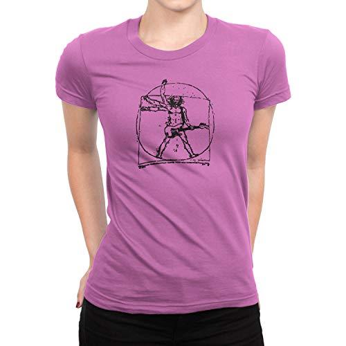 Planet Nerd Da Vinci Rock - Damen T-Shirt, Größe S, rosa - Da Vinci Hochzeit Rock
