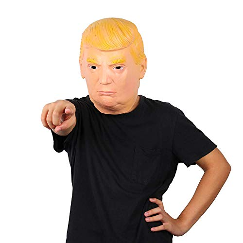 AWLLY Awly Latex Donald Trump Kostüm Maske, Rubber Celebrity Voller Kopf Halloween Party Geschenk Kostüm Cosplay Maskerade Requisiten