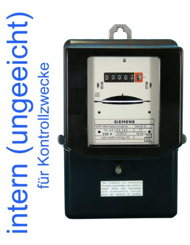 Wechselstromzähler 10(30) A intern ungeeicht für Kontrollzwecke (Last max. 6,9 kW)