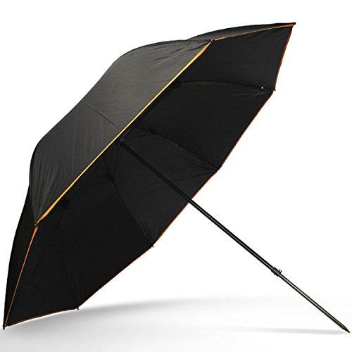Unbekannt G8DS® Deluxe 50er Schirm Angelschirm wasserdicht Schwarz Brolly Angelausrüstung Karpfenangeln