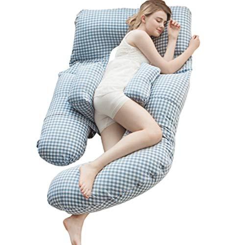 Sarazong Schwangerschaftskissen, Ganzkörper Mutterschaftskissen Für Schwangere, Körperkissen Unterstützung Für Rückenschmerzen Relief, Hüften, Beine, Bauch Mit Waschbarem Stretchbezug (Position Fetale Die)