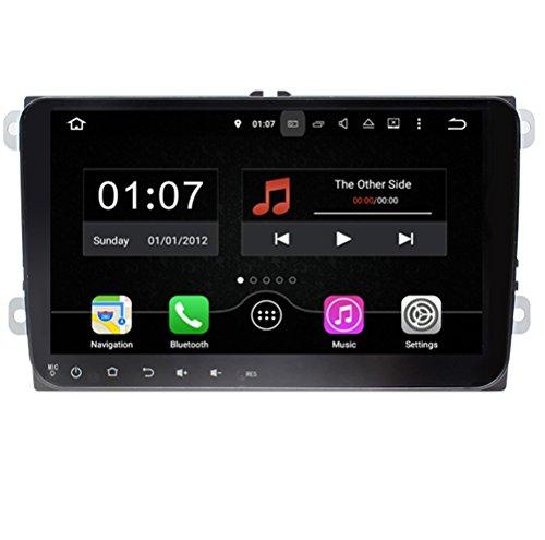 Topnavi 22,9cm Android 7.12G RAM dans Dash Navigation GPS de voiture [pour VW Universal No DVD] Car PC navigateur Tête unité double DIN Autoradio SAT Navi HD DVD CD audio player avec carte gratuite à vie complète écran tactile 1064* 600Miroir Link 1080p 16Go Quad Core USB SD 3G WiFi Cam-in OBD2RDS auxiliaire