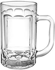 Treo By Milton Chrysler Glass Mug Set, 410ml, Set of 2, Nocolortrans