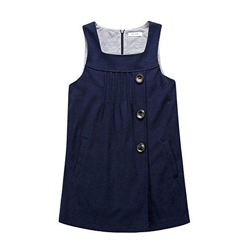 Mädchen Mode Blau oder Rot Party Ärmelloses Kleid Süßer Prinzessin Kostüm Kinder (Unsichtbare Kostüm Kinder)