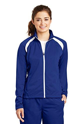 Sport-Tek® Ladies Tricot Track Jacket. LST90 True Royal/White L