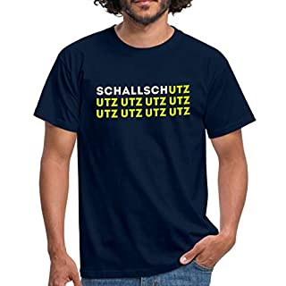 Spreadshirt Schallschutz UTZ UTZ UTZ Musik Laut Party Eskalation Männer T-Shirt, 3XL, Navy