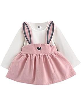 Vestidos Niña Invierno Cortos, K-youth® Mono Bebé Niña Lindo Otoño Conejo Vendaje traje Mini Tutú Princesa Vestido...