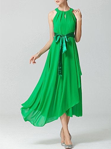 Longue Robe Femme Swing Soirée Cocktail Party Robes Vert