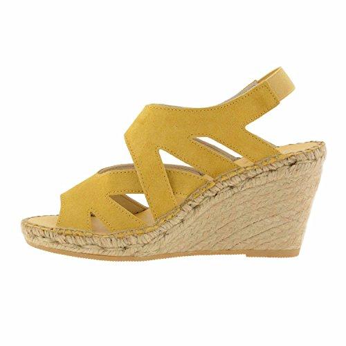 Sandales à talons en cuir Jaune