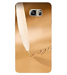 ColourCraft Feather Design Back Case Cover for SAMSUNG GALAXY NOTE 6
