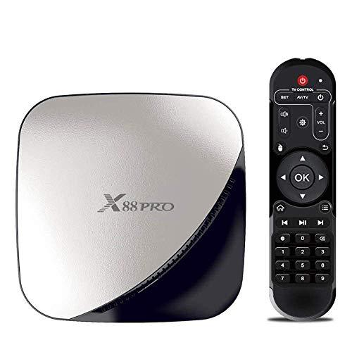 MEHOSUE Smart TV Box Android TV X88 Pro Box Smart TV Android 9.0 Rockchip RK3318 Quad Core 64 Bits UHD 4K VP9 H.265 2 Go / 16 Go Wi-FI HD Lecteur multimédia (16GB)