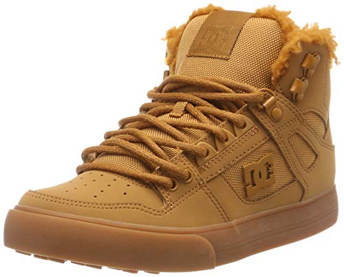 DC Shoes Herren Pure HIGH TOP WC Winter Skateboardschuhe, Beige (Wheat/White Wew), 44 EU -