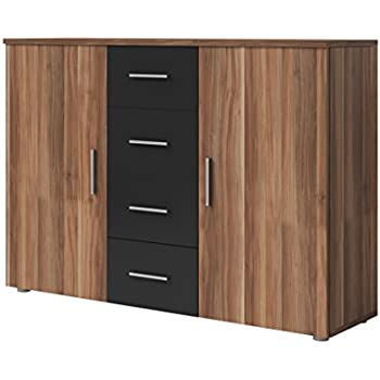 trendteam wohnzimmer sideboard schrank wohnzimmerschrank boom 176 x 79 x 40 cm in nussbaum. Black Bedroom Furniture Sets. Home Design Ideas