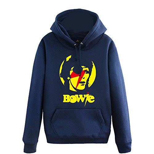 (CosDaddy David Bowie Ziggy Herbst Winter Schwarz Sweatershirt Hoodie Kapuzenpullover Cosplay Kostüm (XL))