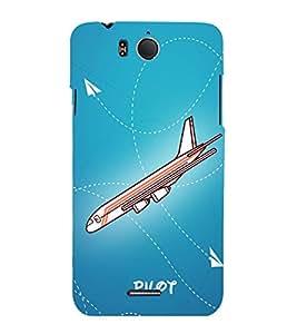 Pilot Flight Landing 3D Hard Polycarbonate Designer Back Case Cover for InFocus M530