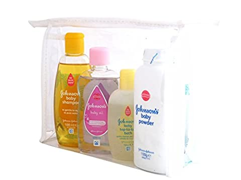 Johnsons & Pampers Baby Essentials Toiletry Travel Bath Bag -
