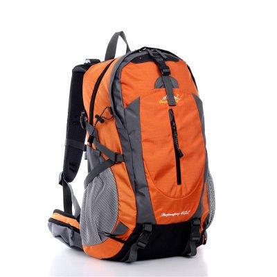 ShangYi All'aperto alpinismo borsa doppio donne spalla borse uomo sport viaggio zaino , dark blue Orange