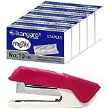 Kangaro Aris 10 Stapler with 5 Pkt Kangaro Munix Staple Pin No-10