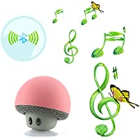 Rubility® Portable Wireless Mushroom Modello Mini Assorbimento Mobile Bass Bluetooth Speaker con MIC --- Rosa