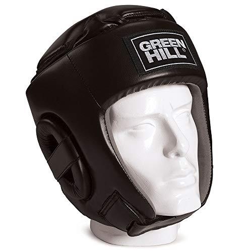GREEN HILL Glory Casco de Kick Boxing, Unisex, Negro, M