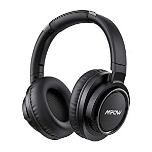 Mpow Active Noise Cancelling Headphones, 50 Hours Playtime Bluetooth Headphones with Hi-Fi Deep Bass, Over Ear Headphones with CVC 6.0 Mic, Wireless Headphones for Travel Work TV Cell Phone/PC