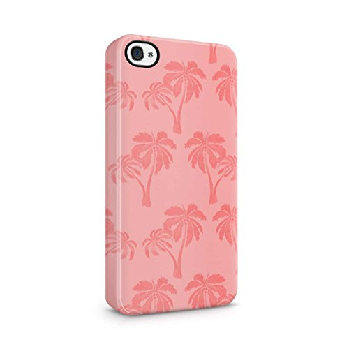 Palm Trees Good Vibes Only Pink Pastel Hipster Summer Pattern Tumblr Apple iPhone 5 , iPhone 5S , iPhone SE Snap-On Hard Plastic Protective Shell Case Cover Custodia Tropical Palm Tree