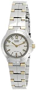 Casio Enticer Analog White Dial Women's Watch - LTP-1242SG-7ADF (A375)