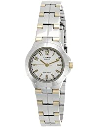 CASIO 19122 LTP-1242SG-7A - Reloj Señora cuarzo brazalete metálico dial blanco