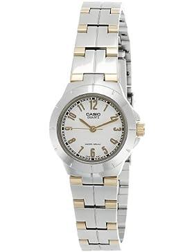 CASIO Damen-Armbanduhr Analog Quarz Edelstahl LTP-1242SG-7