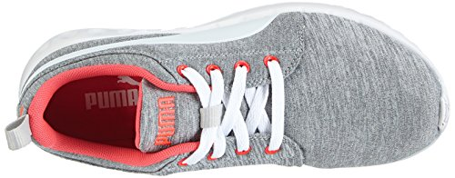 Puma - Carson Runner Wns Heather, Scarpe da corsa Donna Grigio (Grau (gray-white-bright plasma 01))