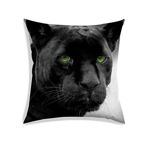 RADANYA Kissenbezug Digital 3D Schwarz Panther Gedruckt Dekorative Zeichen Zimmer Sofa Couch Satin Kissen Abdeckung 18X18 Zoll (Gedruckte Zeichen)