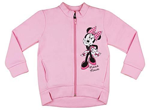 Minnie Standard Kostüm - Baby Mädchen Reissverschluss-Jacke mit Minnie Mouse von Disney Baby aus Baumwolle in Grösse 68 74 80 86 92 98 warm dick ohne Kapuze Größe 68
