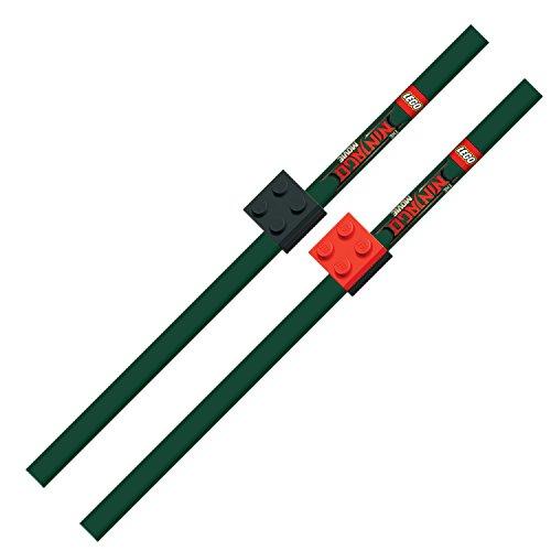 Lego 51864 - Bleistifte, Ninjago Movie, 2er Pack mit Baustein-Stiftaufsatz