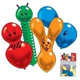 PARTY DISCOUNT Luftballon, bunte Figuren, 10 Stück sortiert