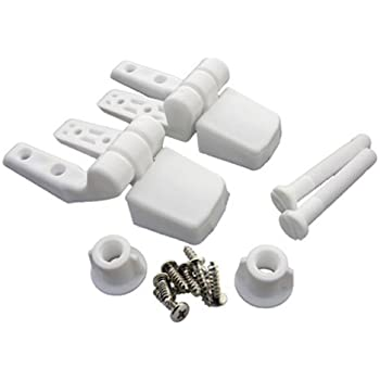 Lasco 14 1039 White Plastic Toilet Seat Hinge With Bolts