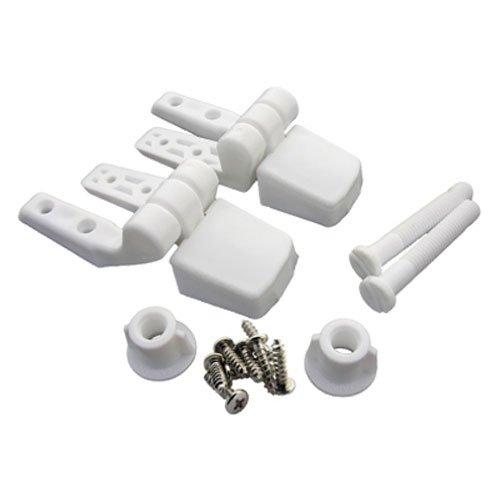 LASCO 14-1039Weiß Kunststoff WC-Sitz Scharnier mit Schrauben und Muttern, Top Verschärfung, passt Bemis Marke - Bemis Wc-scharnier