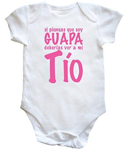 HippoWarehouse Si Piensas Que Soy Guapa Deberías Ver a mi Tío Body Bodys Pijama niños niñas Unisex