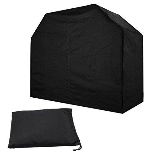 Xcellent Global Housse protège gril barbecue, couverture Protection solaire Waterproof pour le gril à l'extérieur, avec un cordon ajustable Noire HG173