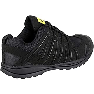 Amblers Safety Mens Black RS40C Rubber Sole Normal Heel Lace Up Trainers 10