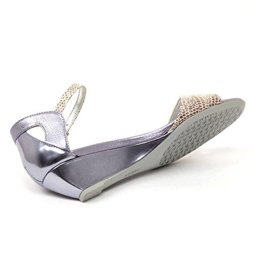 B4703 sandalo donna HOGAN H230 scarpa stampa rettile beige/lilla shoe woman Beige/Lilla