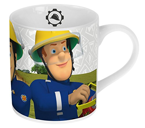 feuerwehrmann sam becher Feuerwehmann Sam Porzellan Kaffee-Becher 180ml im Geschenk-Karton
