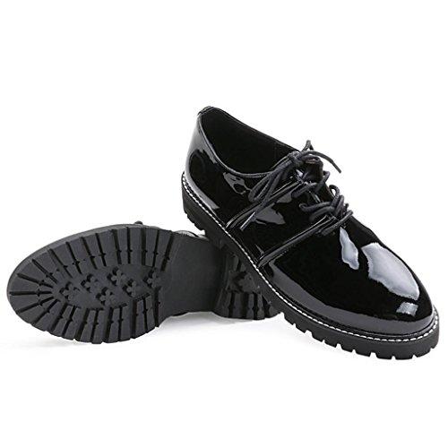 Le signore Stivali Da donna Spessore inferiore Martin stivali Scarpe Scarpe da lavoro scarpe all'aperto , Black , 32 BLACK-41