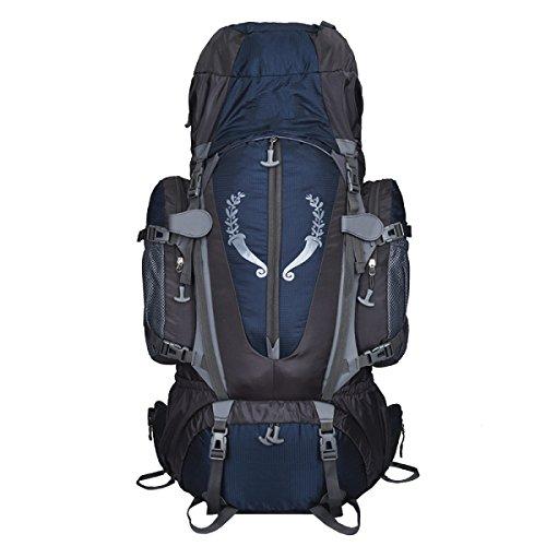 ALICE Yy.f Sacchetti Di Alpinismo Professionale 85L Stanno Borsa Zaino Militare Tattico Esterno Attacco Borsa Sportiva Zaini Caccia Campeggio Trekking. Multicolore Blue
