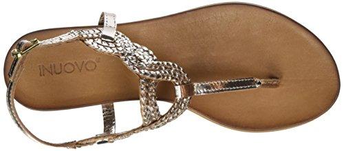 Inuovo - 6195, Scarpe col tacco con cinturino a T Donna Oro (Gold (GOLD))